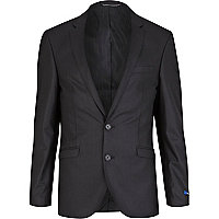 Black stripe suit jacket