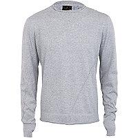 Light grey twisted knit jumper