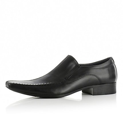 Black heavy stitch shoes