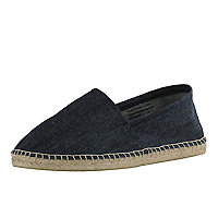 Denim canvas espadrilles
