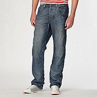 Denim straight fit jean