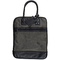 Grey and black holdall