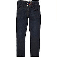 Dark denim carrot jeans