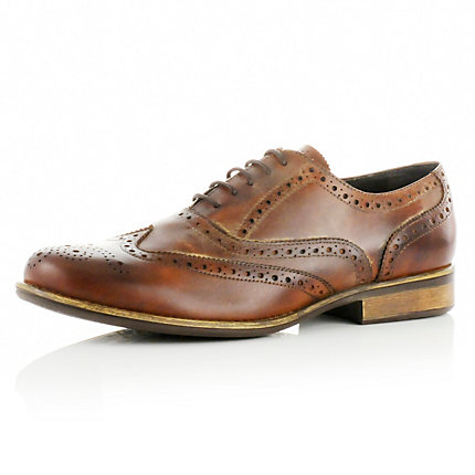 Brown chunky brogues
