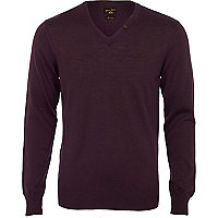 Purple v-neck jumper