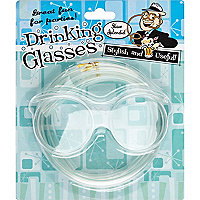 Silly drinking glasses straws gift