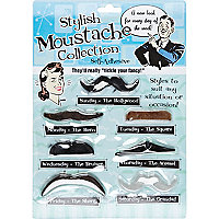 Stylish moustache collection