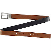 Light brown bevelled edge belt
