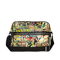Red print marvel flight bag