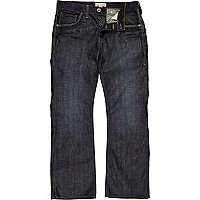 Dark wash denim bootcut jeans