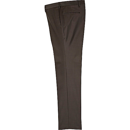 Dark brown suit trousers
