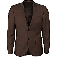 Dark brown suit jacket
