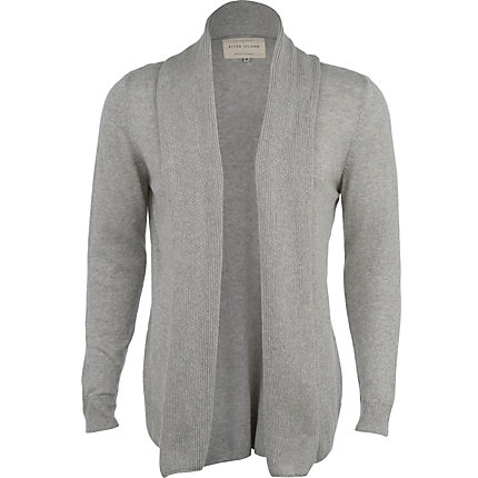 Grey marl long sleeve cardigan