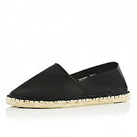 Black canvas espadrilles