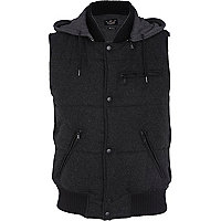 Dark grey smart hooded gilet