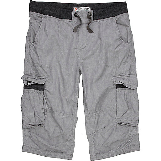 Grey check short