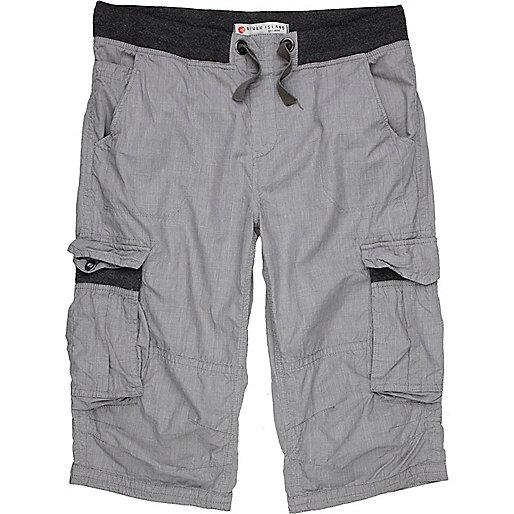 Grey check short
