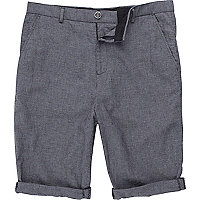 Grey small check shorts