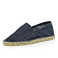 Blue denim espadrilles