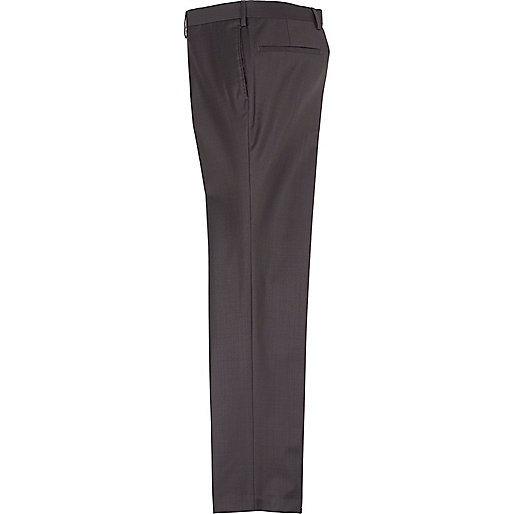 Dark brown slim suit trousers