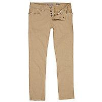 Beige super skinny trousers