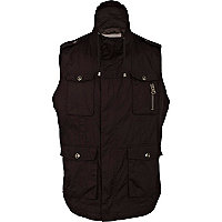 Black four pocket gilet