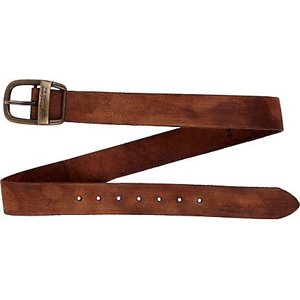 Brown vintage look belt
