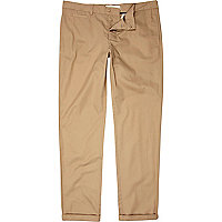 Beige smart chino trousers