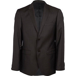 Dark brown new classic fit suit jacket