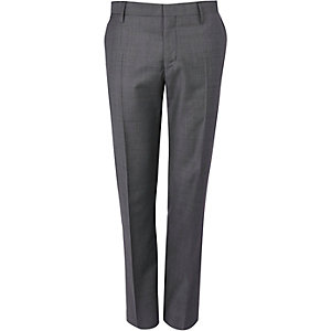 Grey new classic fit suit trousers