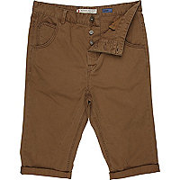 Brown crop shorts
