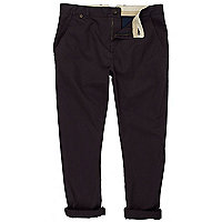 Navy drop crotch chinos