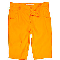 Bright orange shorts