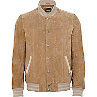 Light brown suede leather jacket