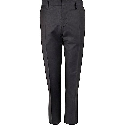 Navy slim suit pants
