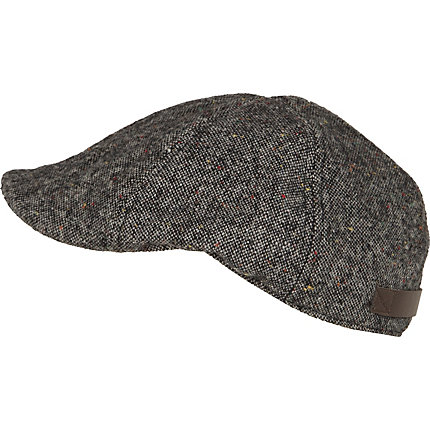 Grey donegal flat cap