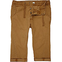 Light brown crop shorts