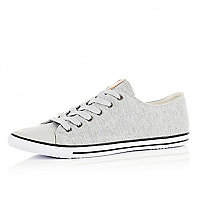Light grey slim plimsolls