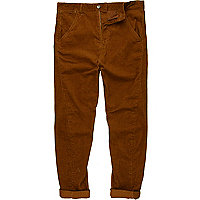 Rust twist seam corduroy trousers