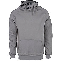 Dark grey funnel neck hoodie