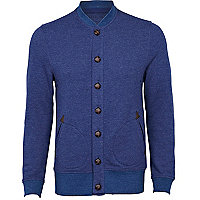 Blue marl sweatshirt jacket