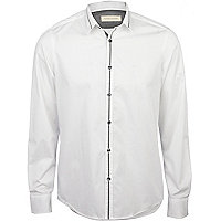 White contrast shirt