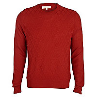 Rust diamond front jumper