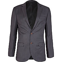 Navy suit smart jacket