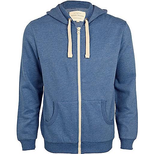 Bright blue long sleeve hoodie