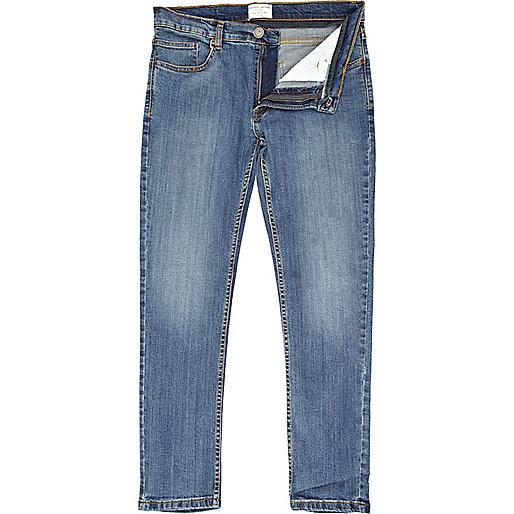 Mid wash denim Flynn skinny jeans