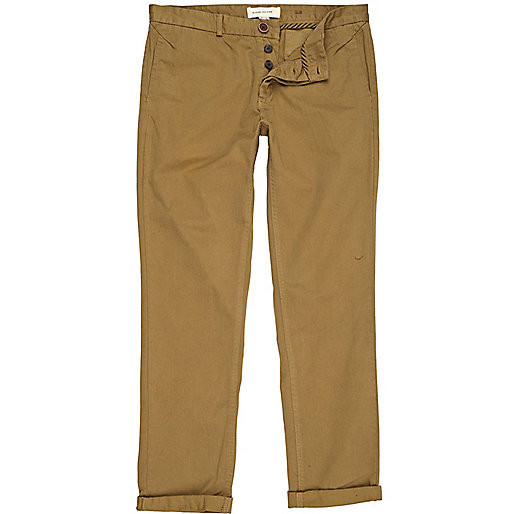 Tan slim chinos