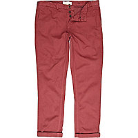 Red slim chinos
