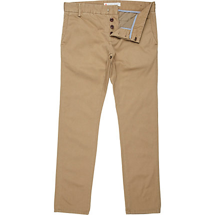 Light brown skinny chinos