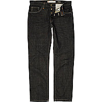 Dark wash denim dean straight jeans